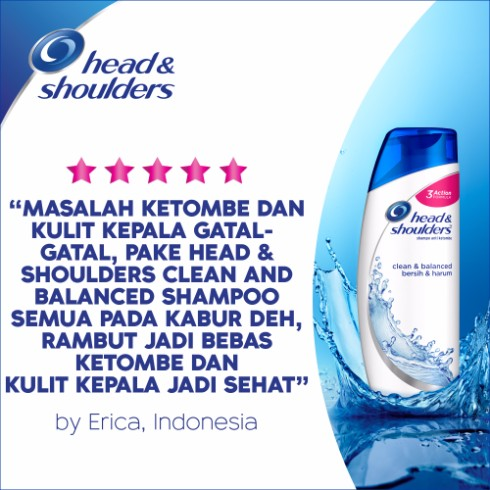Head & Shoulders Sampo Clean and Balanced - 480 ml
