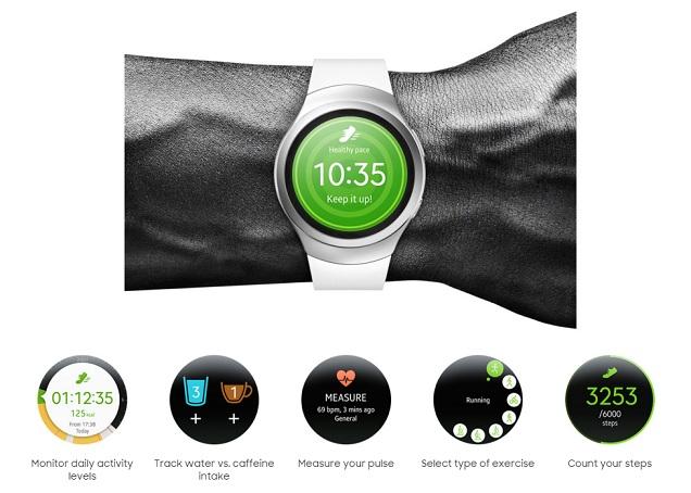 Samsung Gear S2 Smartwatch (Sport/Classic Leather) Samsung_Gear_S2_S_health2a