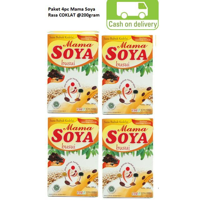 Paket Hemat 4pc Mama Soya - Susu Kedelai Asi Booster - 200gram