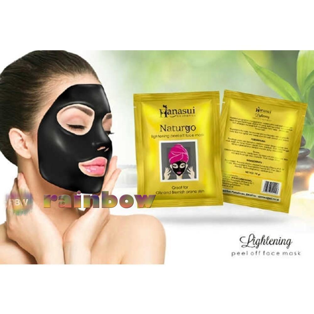 Kehebatan Hanasui Naturgo Original Bpom Masker Lumpur Wajah 1 Box Isi 30 Black Mask 10 Sachet