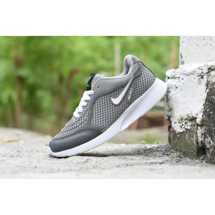 Kehebatan Sepatu Sport Nike Airmax Tiger Abu Abu Merah Running ... 66e6d714f6