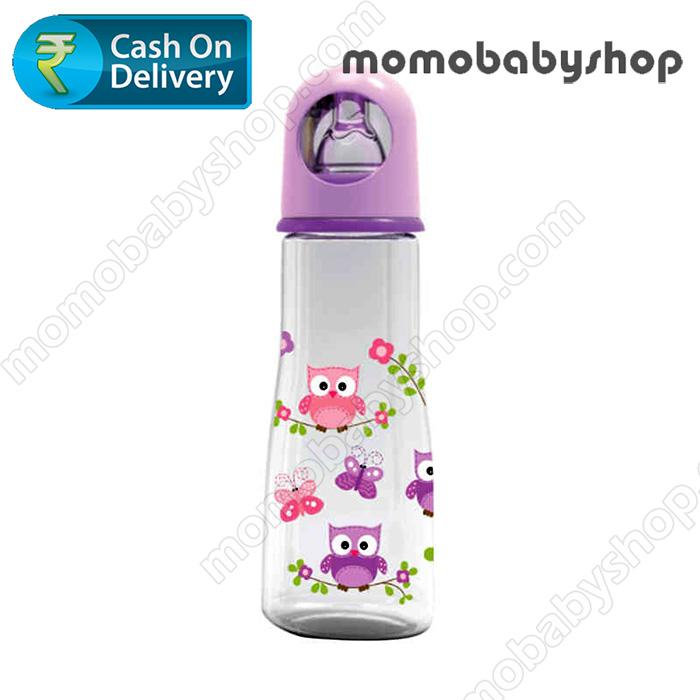 Baby Safe Feeding  Bottle Karakter Animals JP003 250ml Ungu - Botol Susu Bayi BPA Free