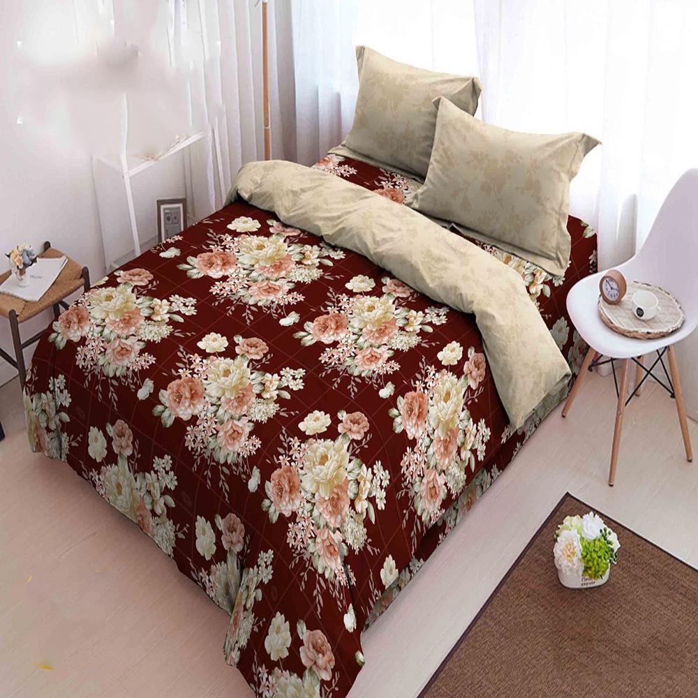 Kintakun Dluxe Bedcover King Motif Bordeaux 180x200 cm