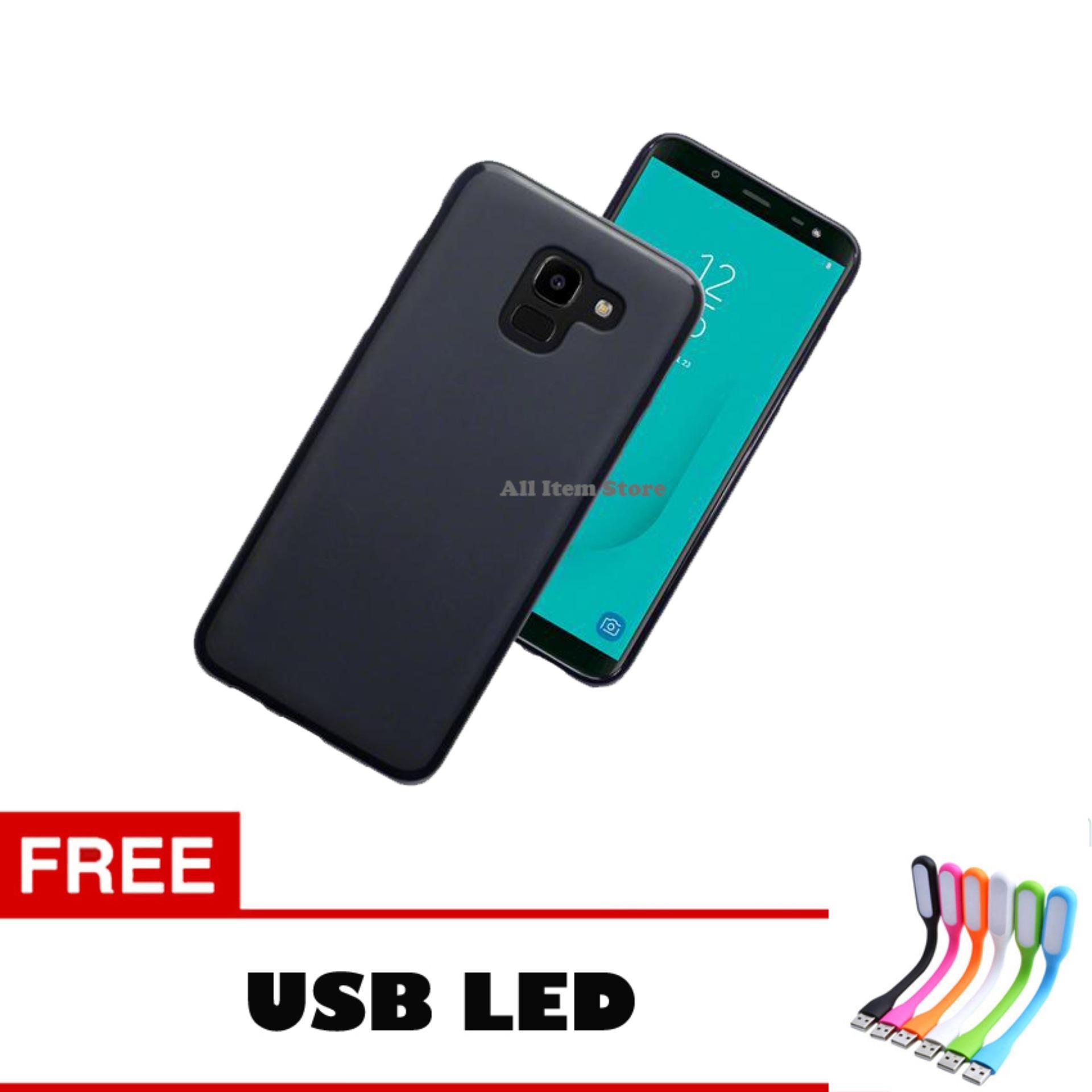 Case Slim Black Matte Samsung Galaxy J6 Baby Skin Softcase Ultra Thin Jelly Silikon Babyskin -