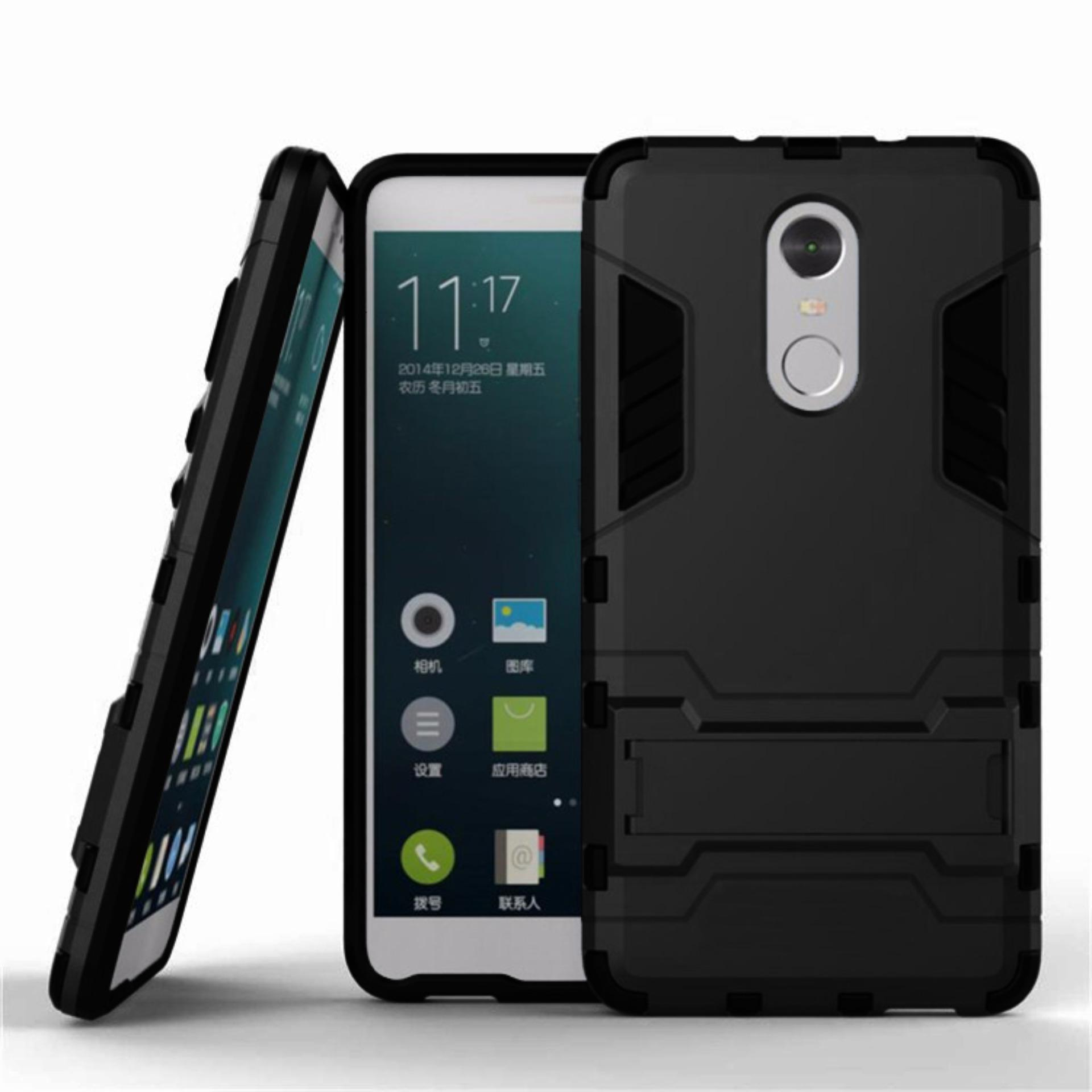 Cek Harga Baru Procase Shield Rugged Kickstand Armor Iron Man Pc Tpu Back Covers For Xiaomi Redmi Note 4x Mediatek Full Black Terkini Januari 2019