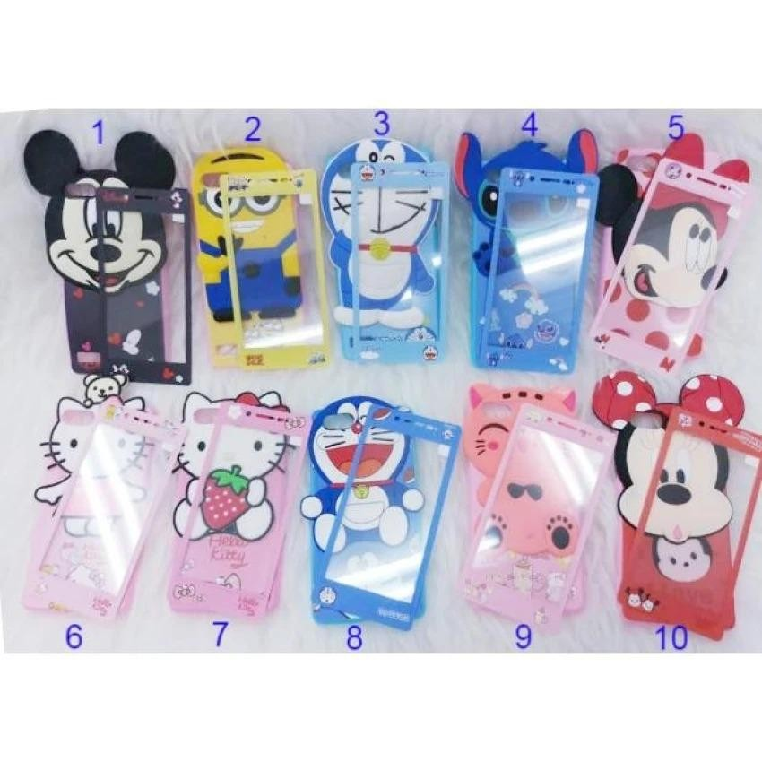 Softcase Karakter 4Dimensi BONEKA TIMBUL FOR OPPO A37/Neo9 Free Tempered Glass Motif Senada Case
