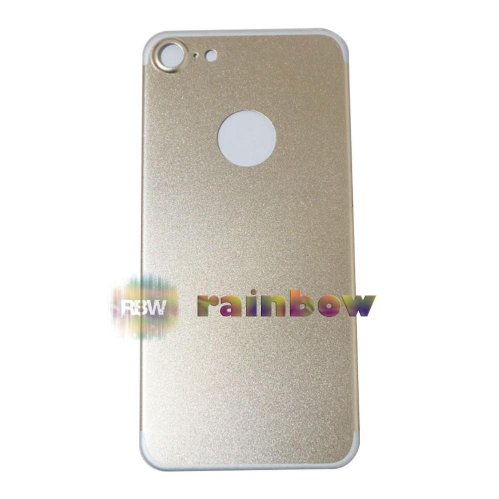 Rainbow Tempered Glass Belakang iPhone 6 Gold Aluminium Alloy / Screen Back Protector iPhone6 4.7 inch