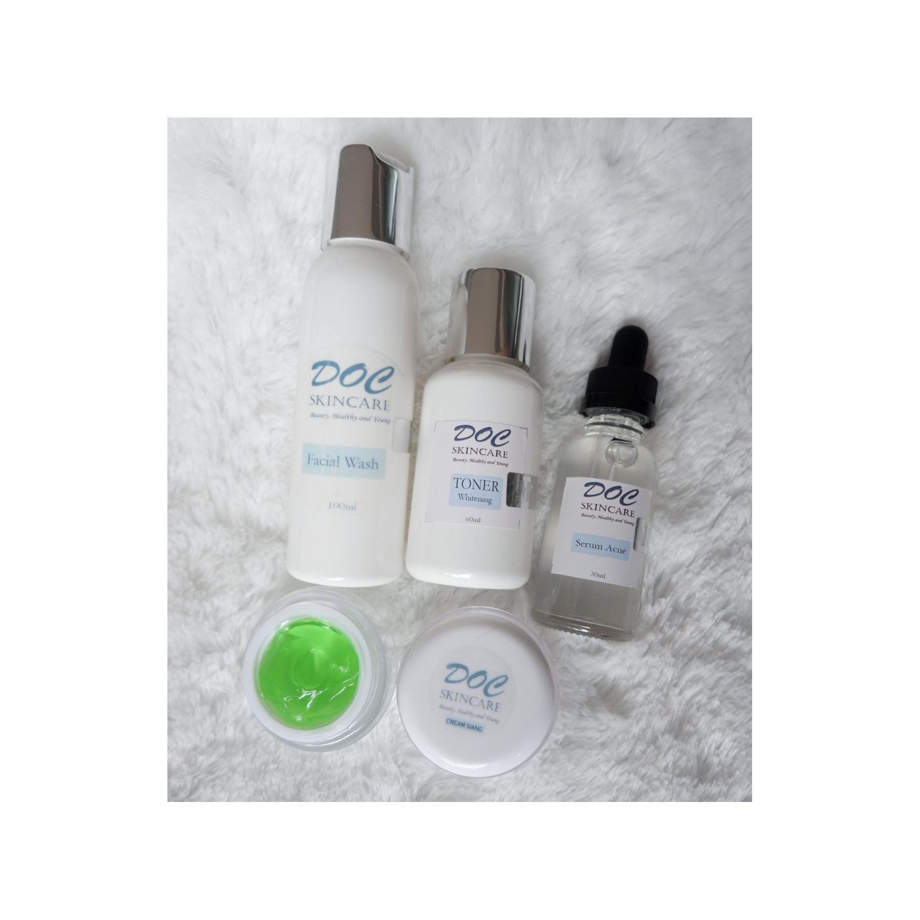 DOC SKINCARE paket perawatan wajah ACNE + serum acne wajah berjerawat