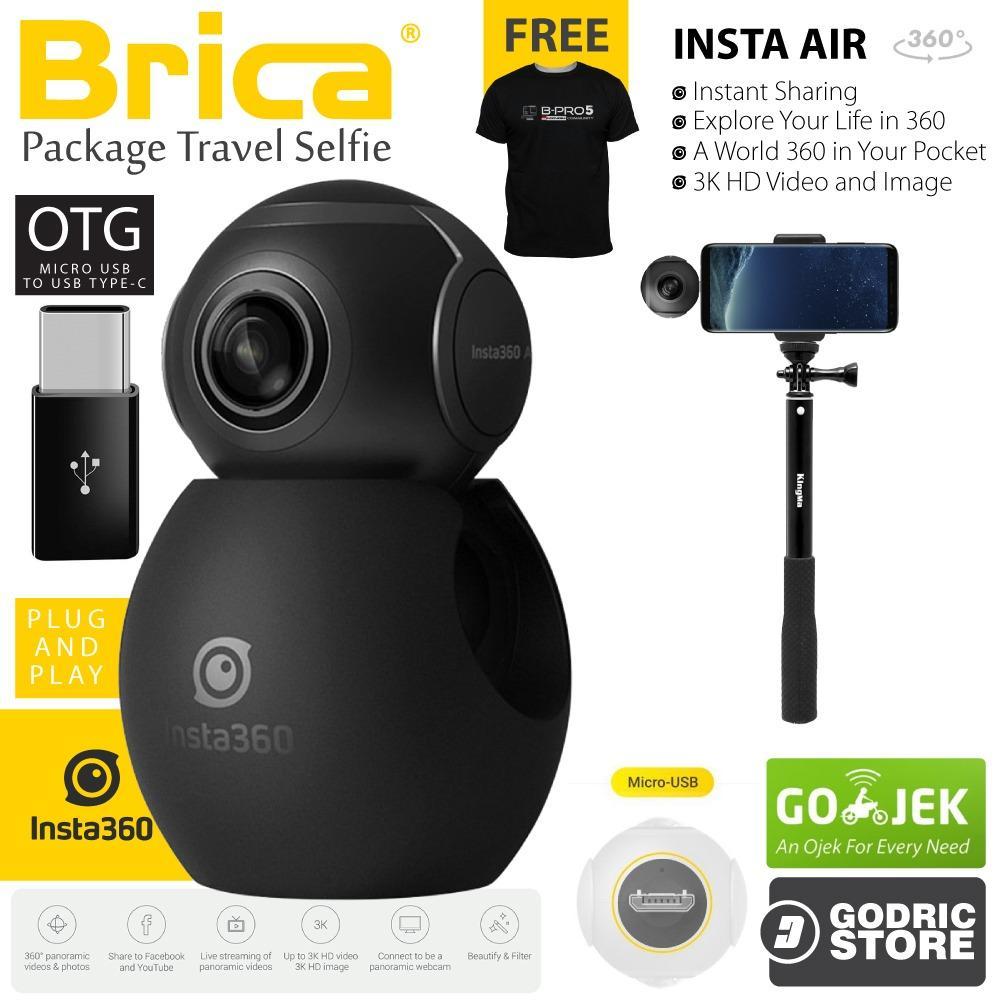 Kehebatan Brica B Pro Insta360 Insta 360 Air Camera Usb Type C Black 5 Alpha Edition