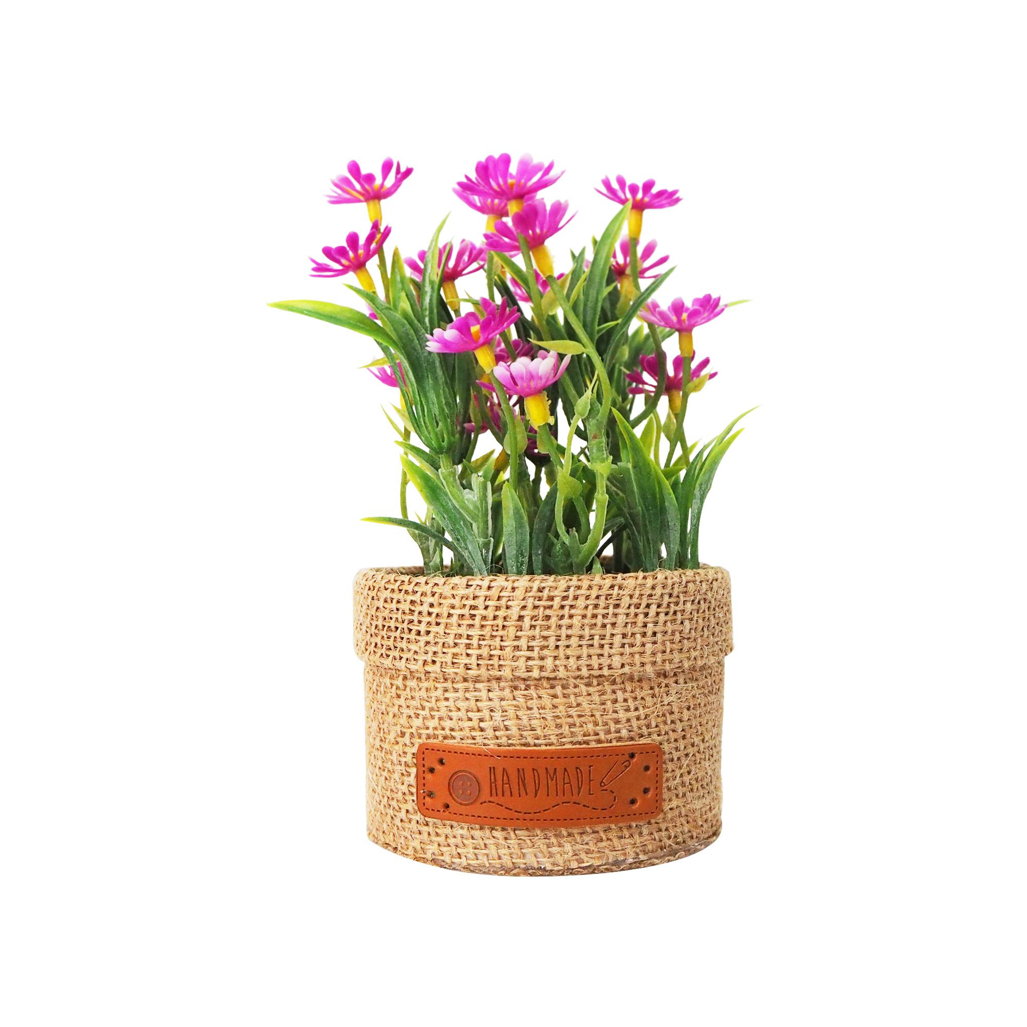 MENDEKOR Jior Pink |vas pot bunga artificial hiasan dekor interior unik shabby