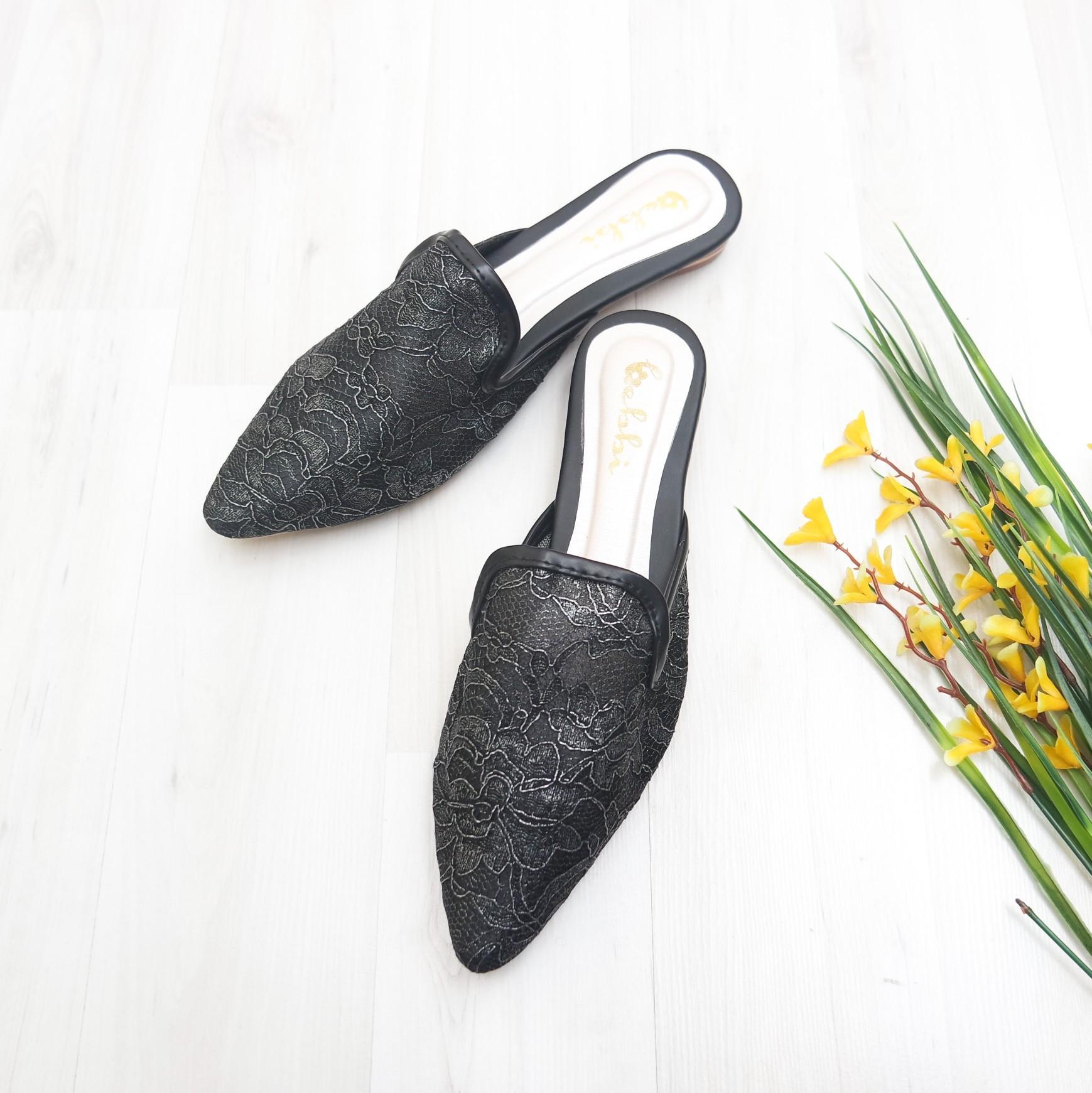 Bebbishoes-Asoka Flatshoes-Black