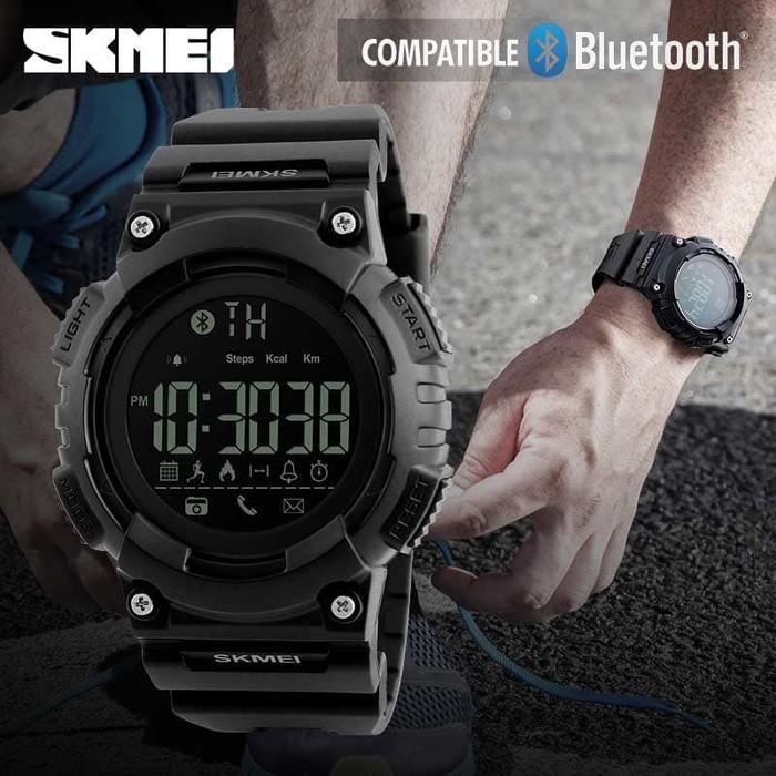 Smart Watch Skmei 1256 Bluetooth Pedometer Smartwatch - 50M Waterproof - 53Kajj