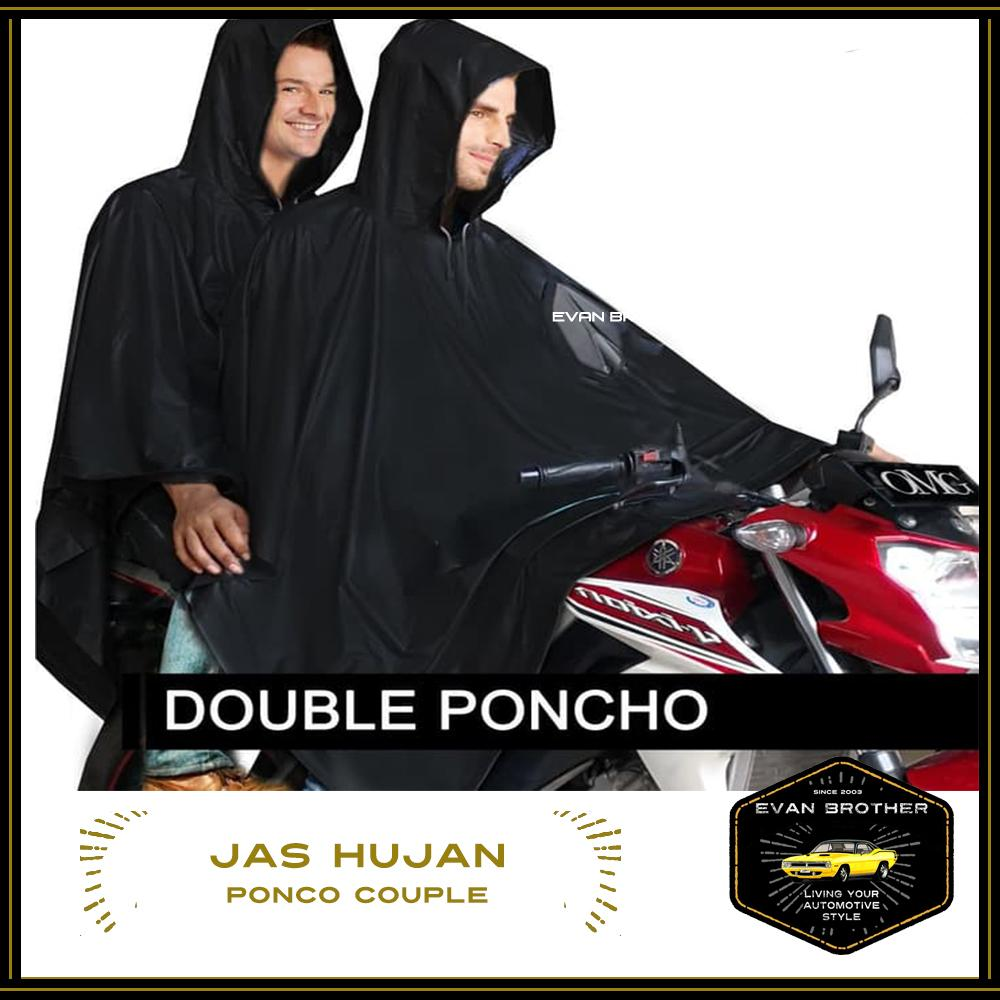 Jas Ujan Double Ponco / Jas Hujan Ponco Tebal / Rain coat Double Ponco Waterproof