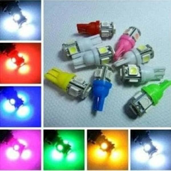Lampu LED Jagung T10 Senja Kota Sein 5Mata 5 Titik Mata Mobil Motor