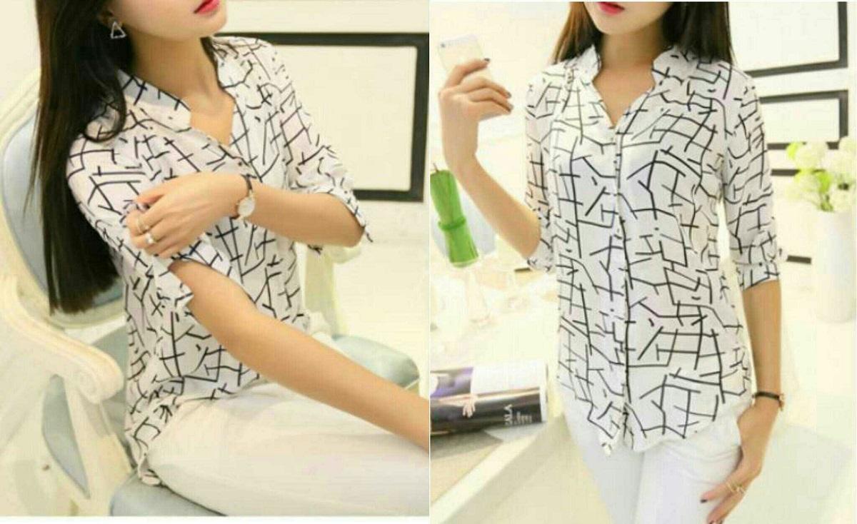 HRV Shop Kemeja Wanita Asia   Baju Wanita   Blouse Korea   Atasan Wanita    Baju cfebae3c83