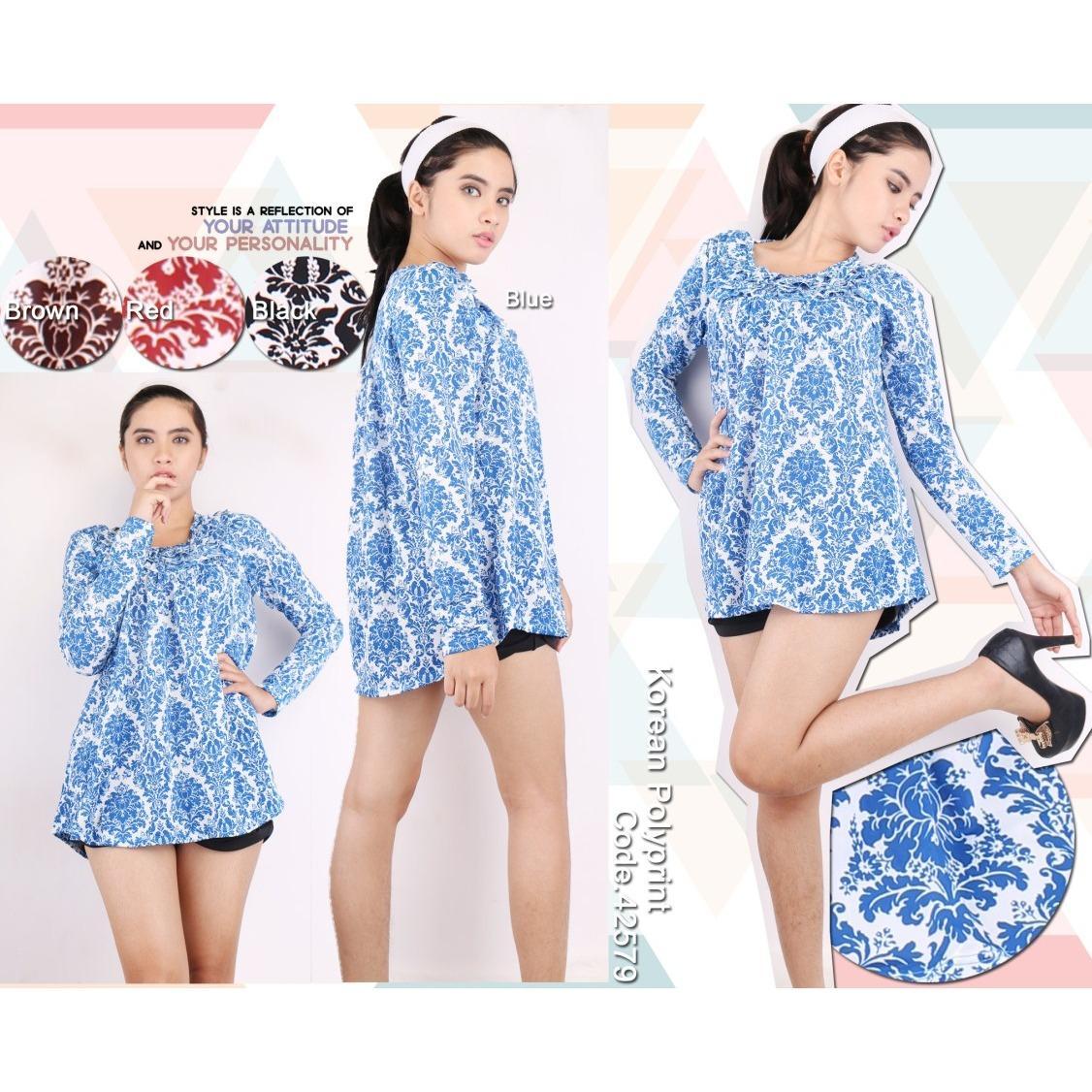 Oma Holley Fashion Flavio Blouse Long Sleeve 4 Warna-Size M