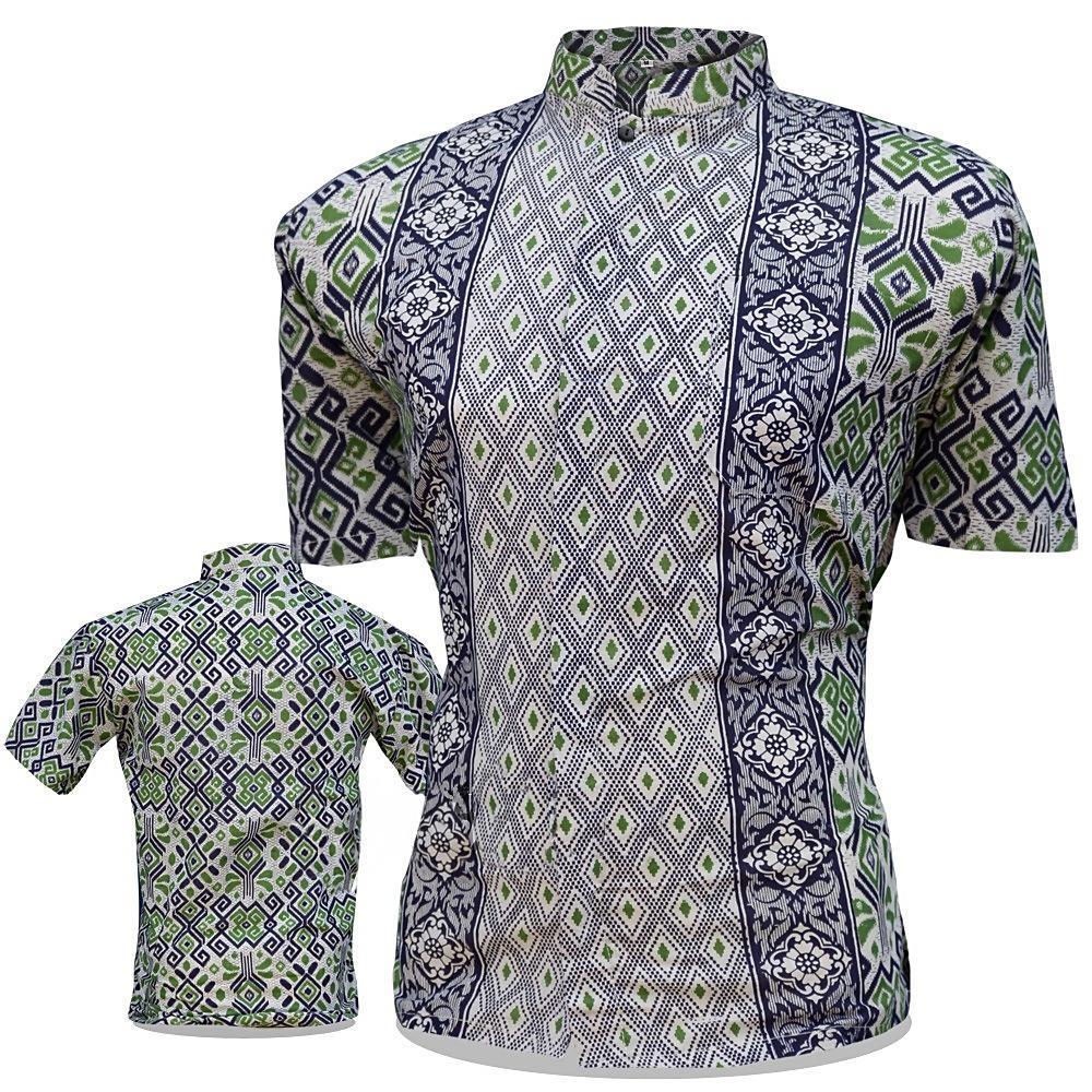 Batik Pekalongan   Fashion Pria   Kemeja Batik Pria Kerah Koko   Hem Batik  Pria   6020647b58