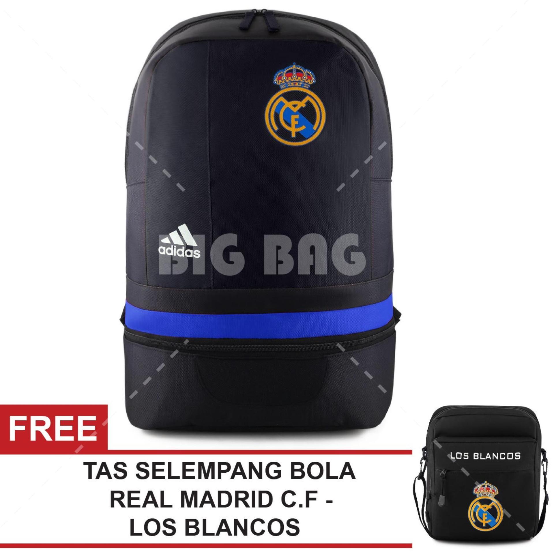 Tas Ransel Bola Pria Adidas Real Madrid C.F - Santiago Bernabeu Laptop Backpack Men Soccer Editions