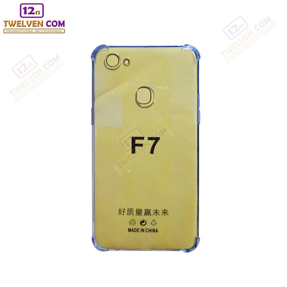 Case Anti Shock Anti Crack Softcase Casing for Oppo F7 - Clear