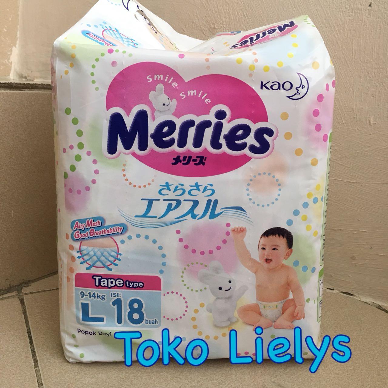 Kehebatan Merries Premium Tape L32 Popok Perekat L 32 Dan Goon Excellent Dry L18 18