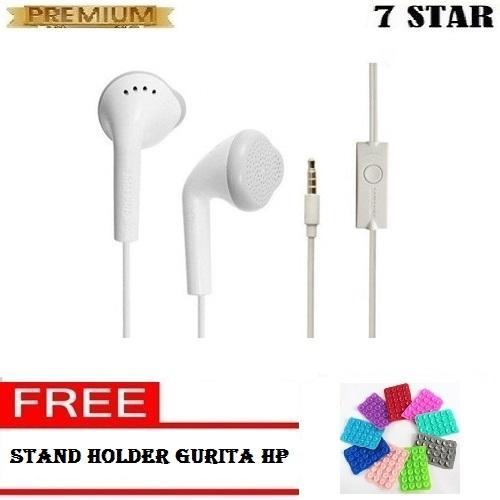 Samsung Handsfree / Headphones / Earphone / Headset Samsung Untuk Semua HP - Putih + Gratis