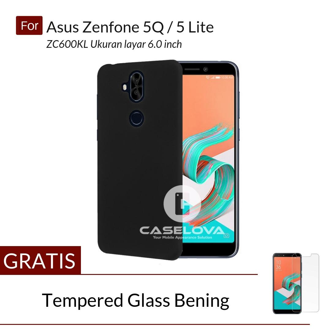 Caselova UltraSlim Black Matte Hybrid Case for Asus Zenfone 5Q / 5 Lite ZC600KL - Hitam