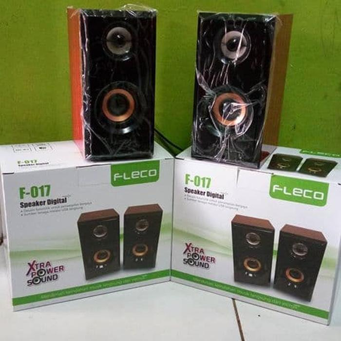 Referensi speker fleco F017 speaker aktif / speaker laptop / speaker super bass