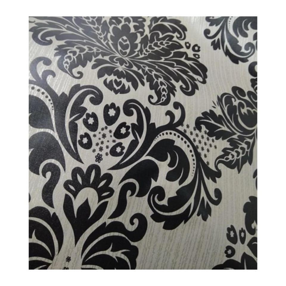 walpaper motif batik hitam kalasik-45x10 meter sticker dinding