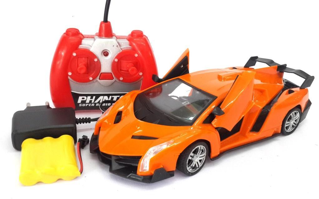 Miracleonlineshop Mainan Mobil Remote Control Lamborghini Car RC Charger Buka Pintu