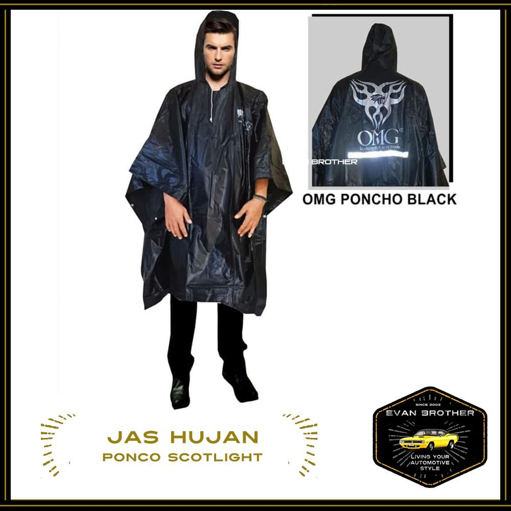 Jas Ujan Single Ponco / Jas Hujan Ponco Tebal / Rain coat Single Ponco