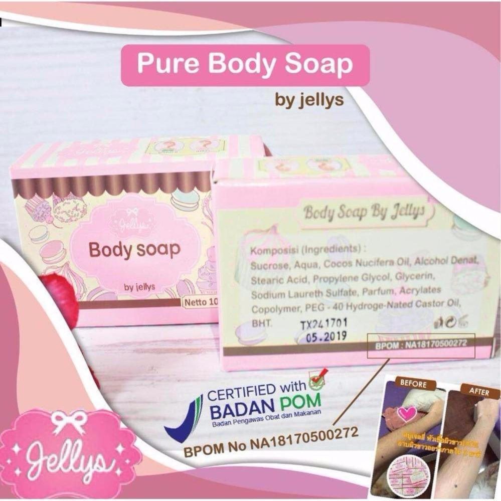 Pure Soap by Jellys - Sabun Pemutih Muka Dan Badan BPOM - 100 gr