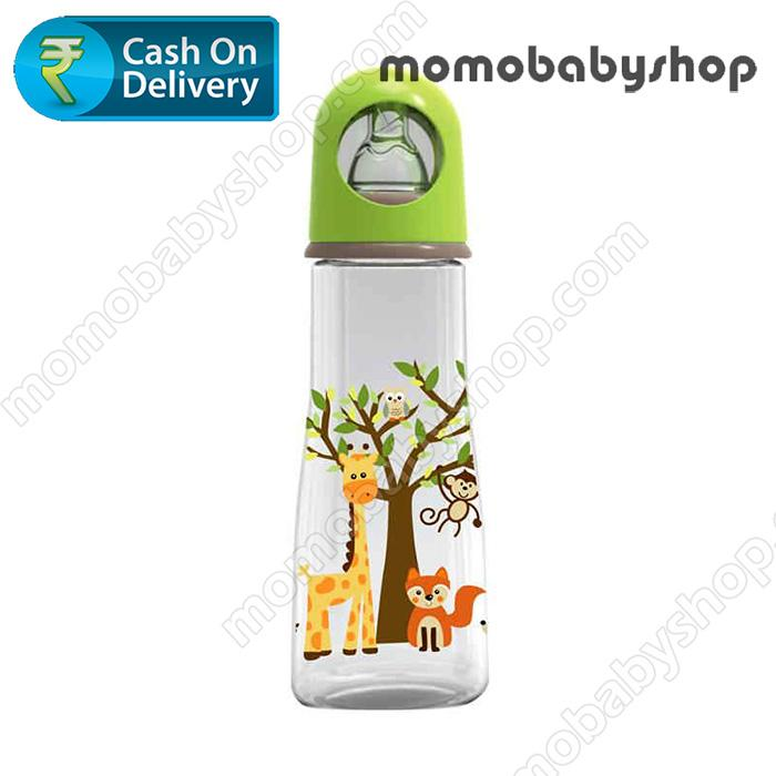 Baby Safe Feeding  Bottle Karakter Animals JP003 250ml Hijau - Botol Susu Bayi BPA Free