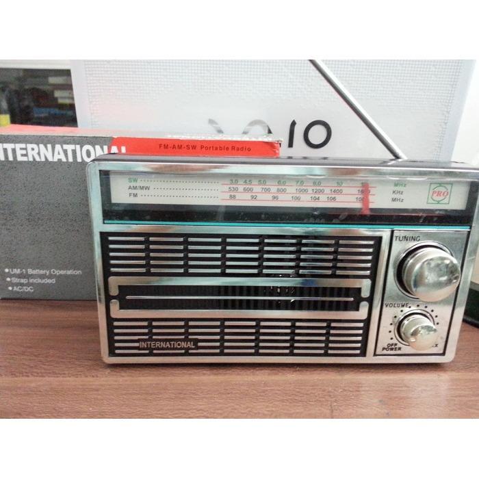 Radio AM/FM International F4250 AC-DC Murah Radio AM/FM International F4250