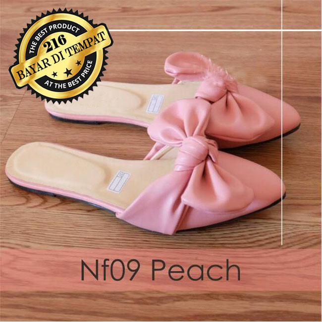 Flat Shoes Wanita NF09 - Sandal Flat Wanita - Sepatu Flat   Selop Teplek  PITA RIBBON d9b026b08d