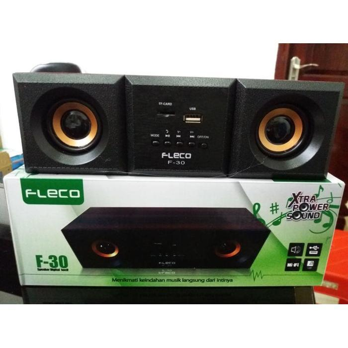 Hot Promo Speaker FLECO F30 Digital Audio BASS Komputer/Laptop F-30 XTRA POWER speaker aktif / speaker laptop / speaker super bass