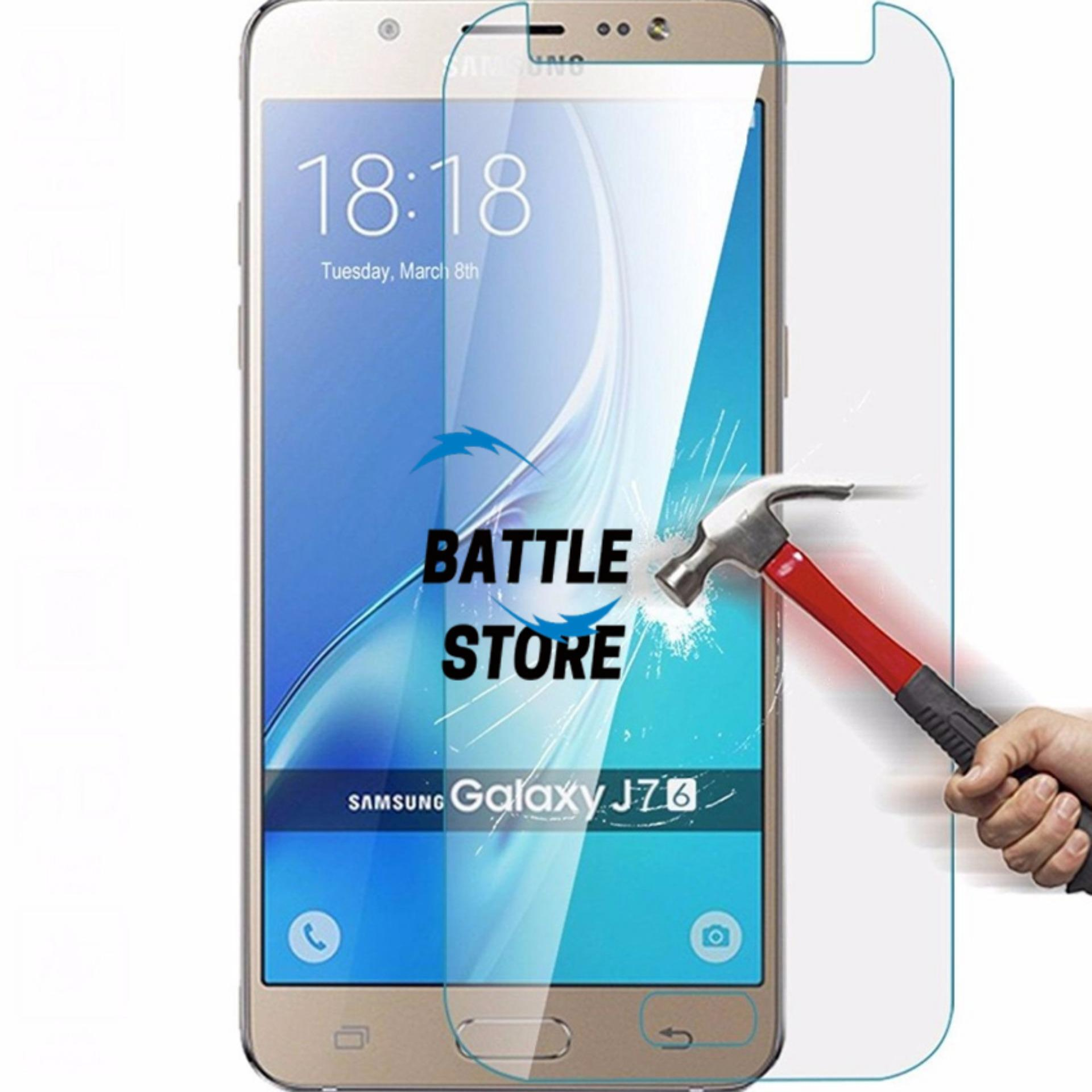 Samsung Galaxy J7 2016 / J710 Screen Protector Tempered Glass / Anti Gores Kaca - White