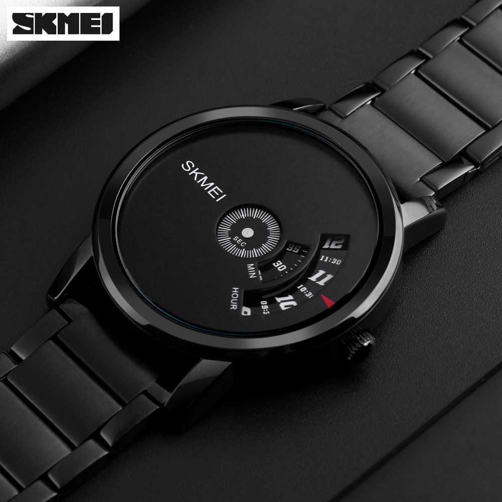 SKMEI Simple Style Men Watch A1260 Jam Tangan Pria Strap Tali Besi Quartz  Fashion Anti Air 7663ba3242