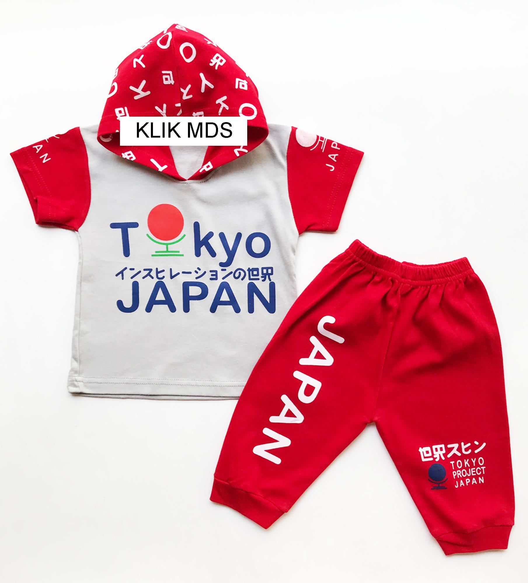 Kehebatan Klik Mds Baju Anak Lelaki Setelan Atasan Dan Celana Motif Overall Mqueen Topi Hoodie Tokyo Japan