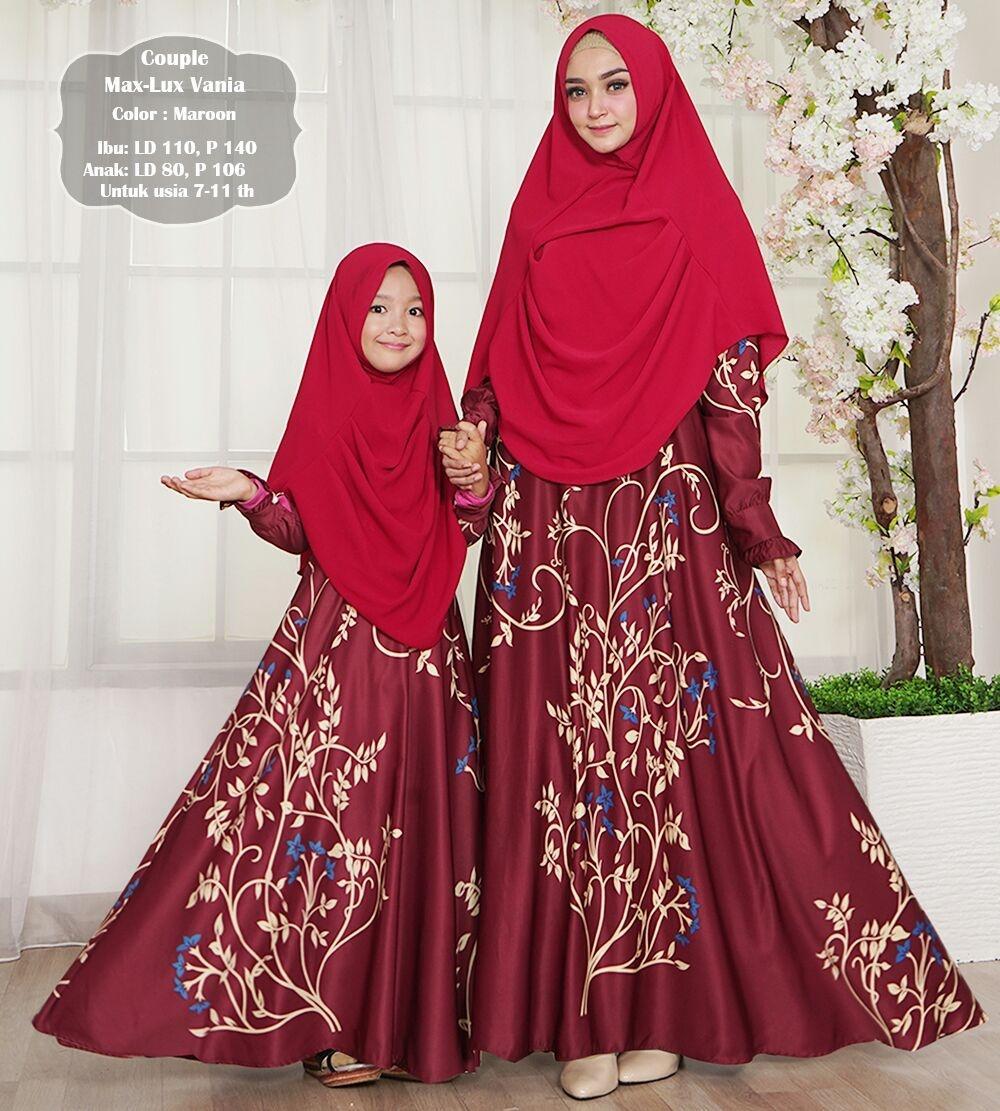 silentriver88 gamis muslim syari maxmara vania ibu dan anak couple