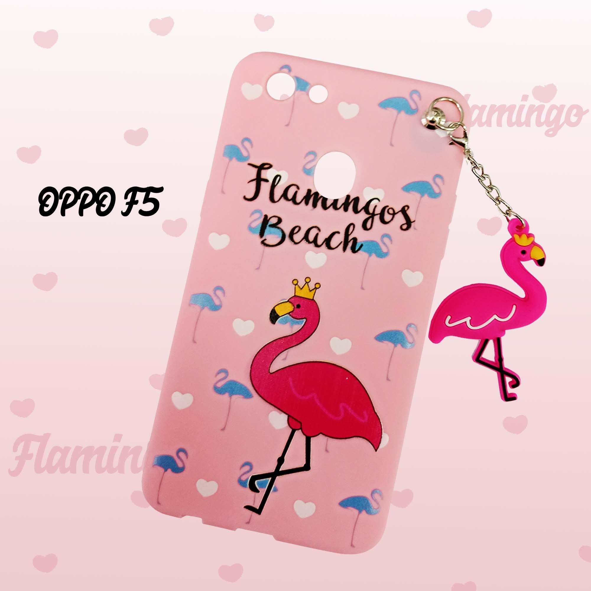 Softcase Flamingo Pink Gantel New For Oppo F5