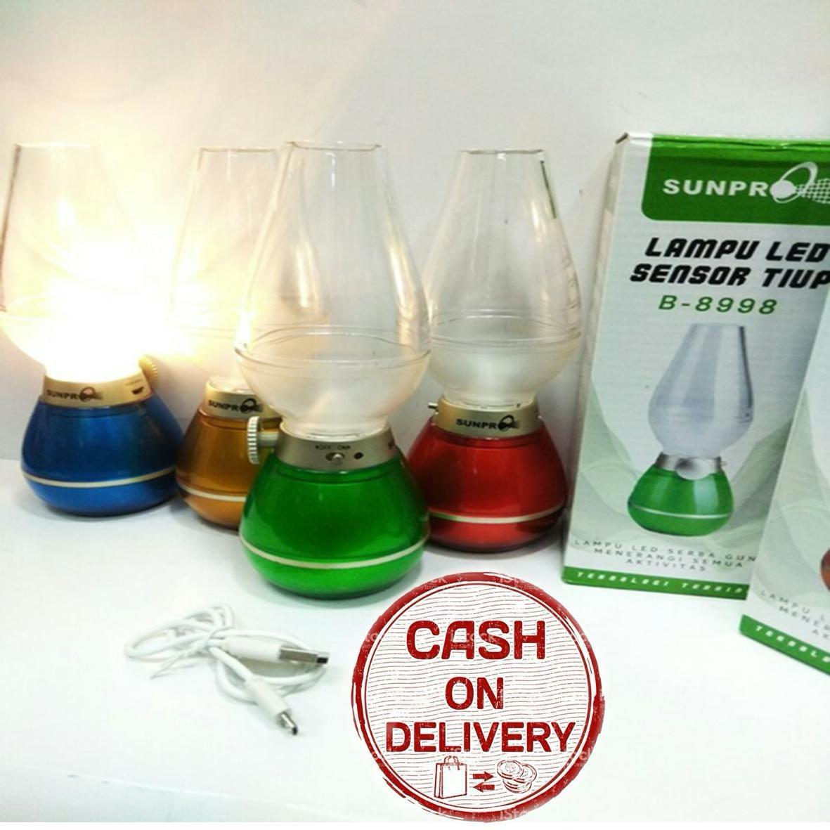 Kado Unik-- Lampu Led Sensor Tiup Sunpro B-8998 / Lampu Led Sensor
