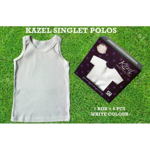 Kazel Singlet Polos White Edition Bayi Modern