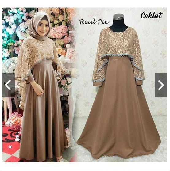 Kehebatan Moslemwear Gamis Syari Pesta Latin Premium Real Pic Abaya