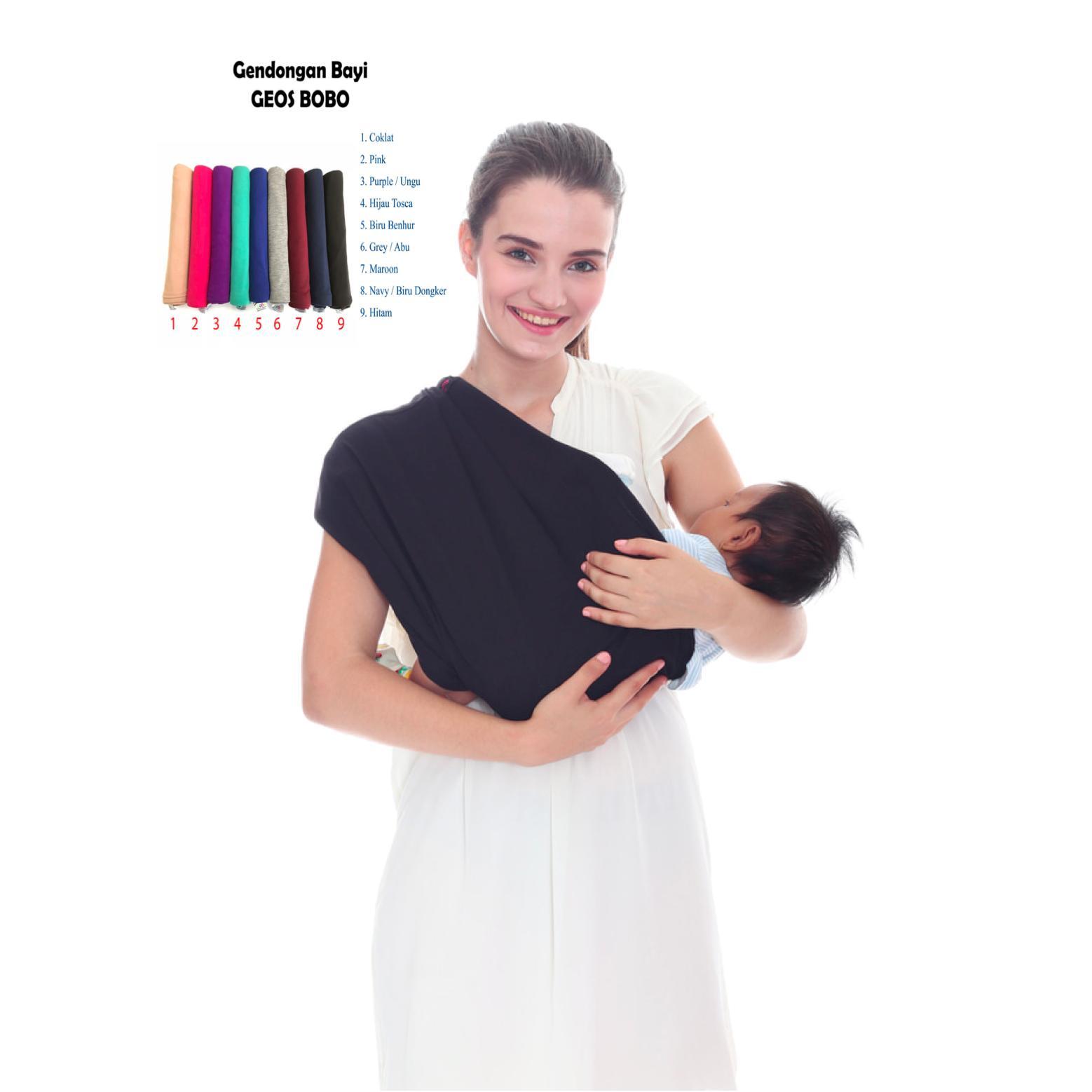 Gendongan Kaos Bobo / GEOS BoBo / Gendongan Bayi Premium Baby Sling - Size M