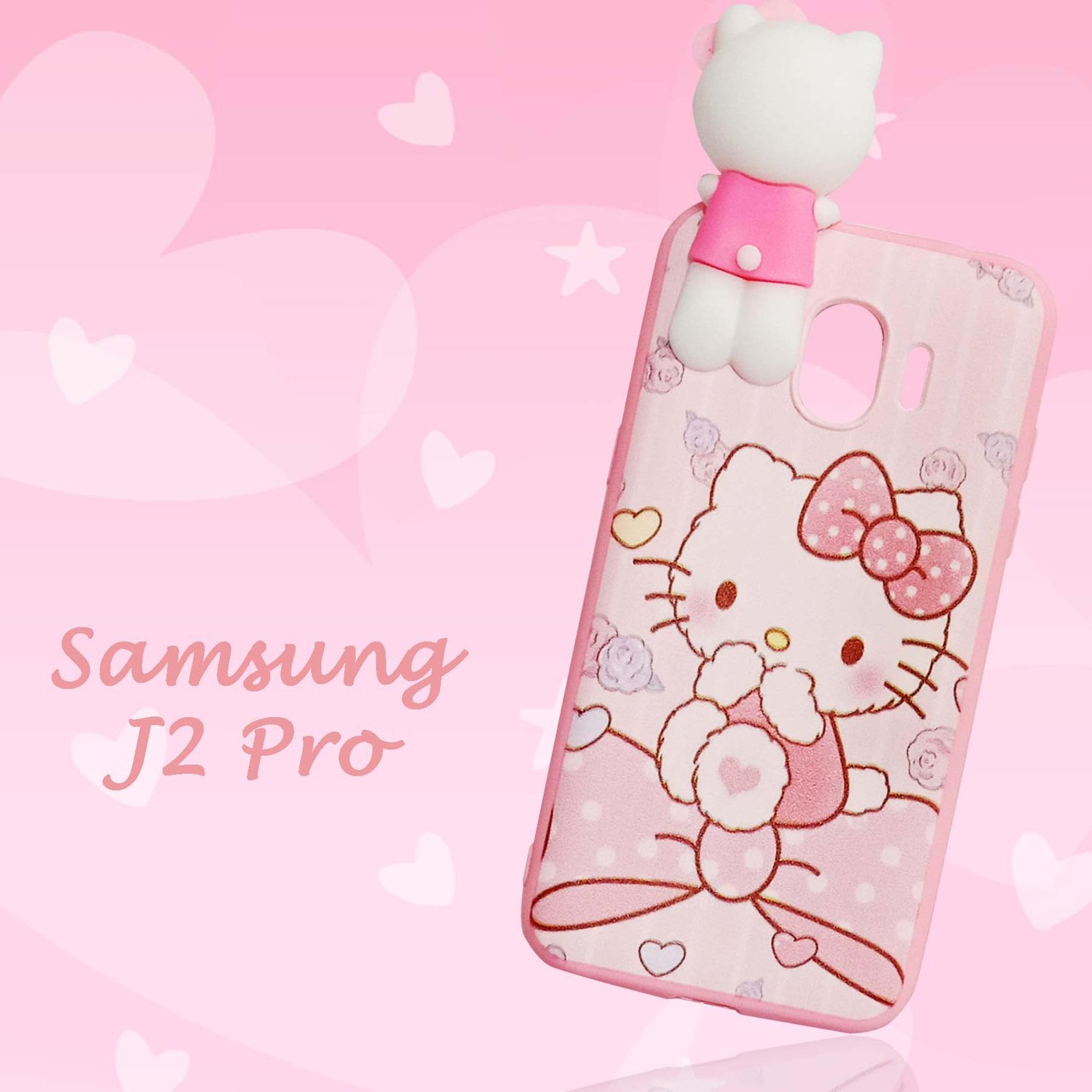 Softcase Hello Kitty Pink Climb New For Samsung Galaxy J2 Pro 2018