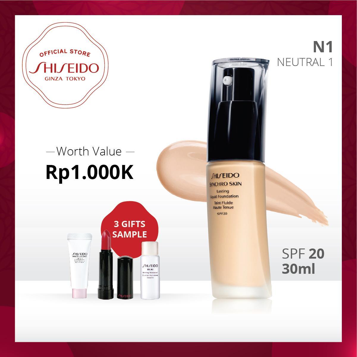 Shiseido Ramadhan Promo Synchro Skin Lasting Liquid Foundation 30mL Makeup Series