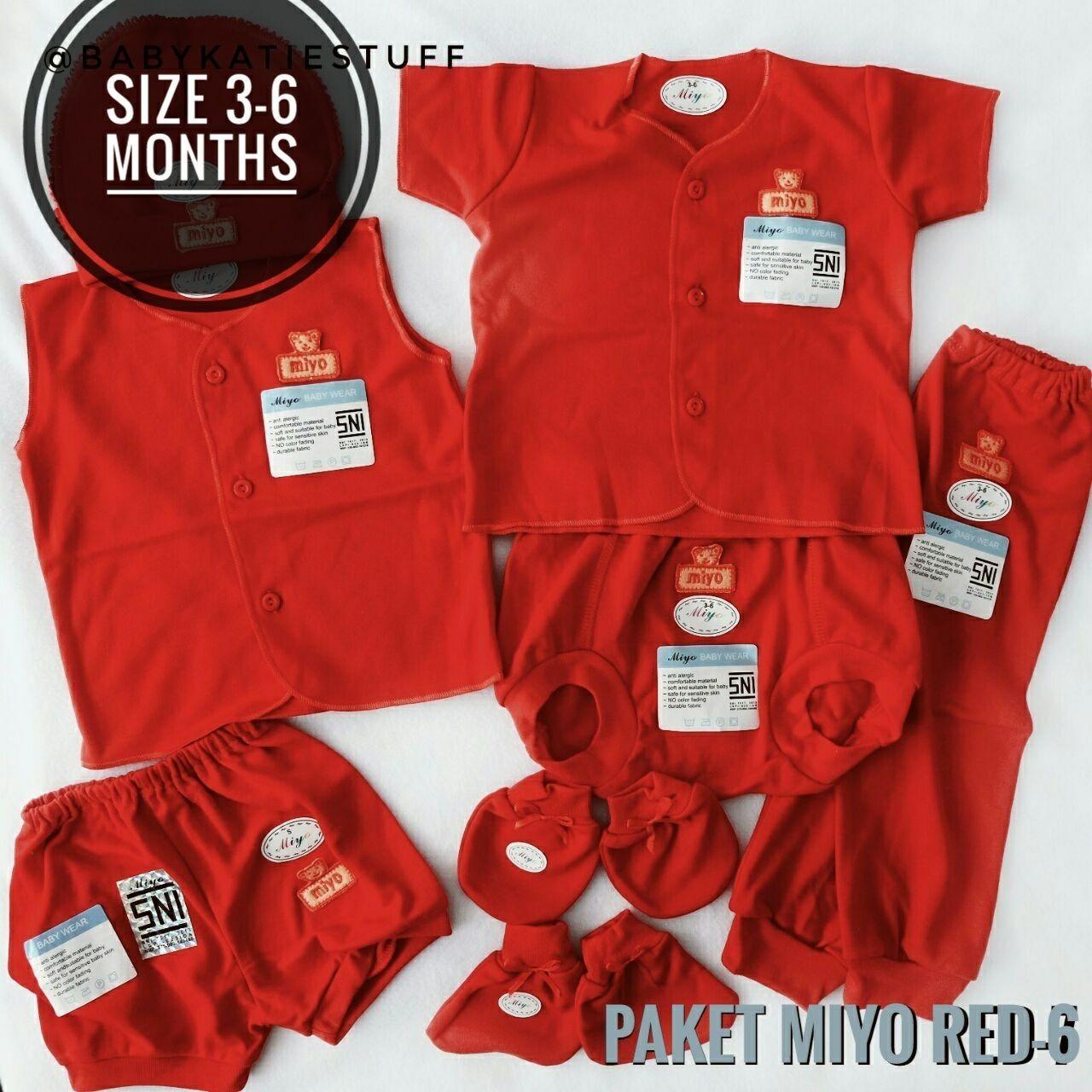 Kehebatan Set 6pcs Baju Bayi Newborn Lengan Panjang Paling Murah Dan Babykatie Paket Miyo Red 3 6 Baby