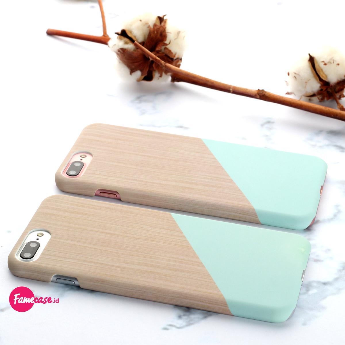 Blok Pastel Hard Case Casing Iphone 5 5S SE Warna Biru