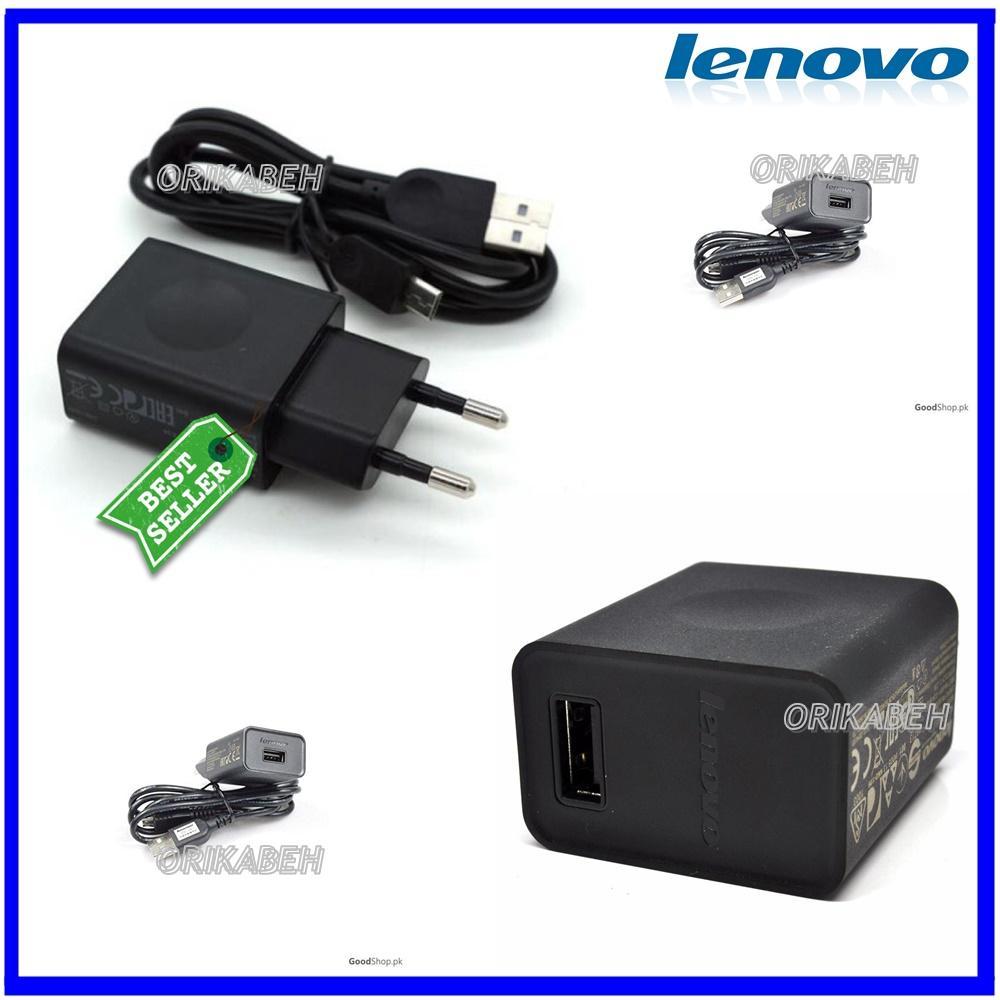 Lenovo Travel Charger Micro USB Fast 2A Hitam - Original 100% ( orikabeh )