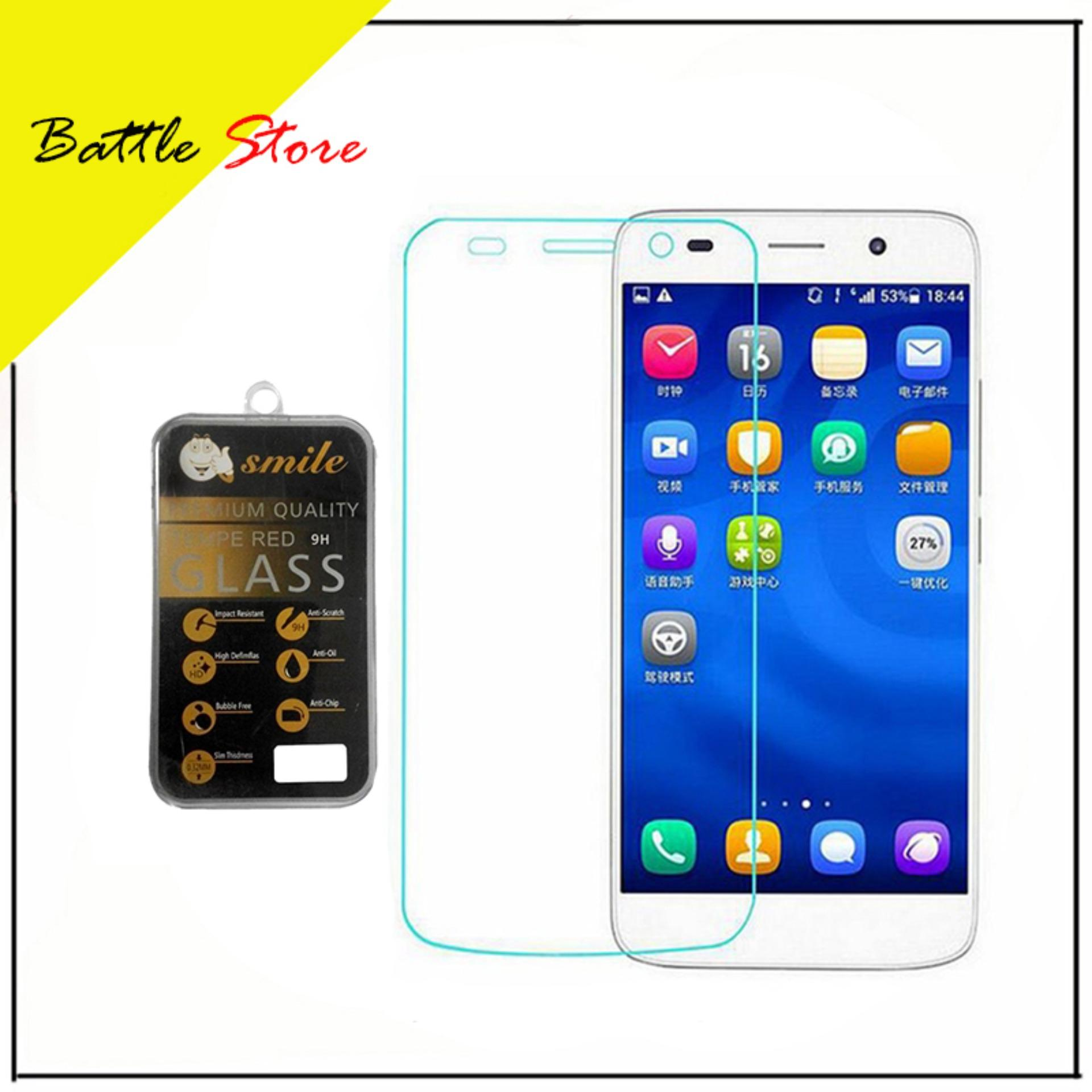 Huawei Y6 2017 Smile Screen Protector Tempered Glass / Anti Gores Kaca - White Clear